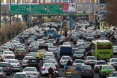 اوج ترافیک تهران چه ساعتی است؟