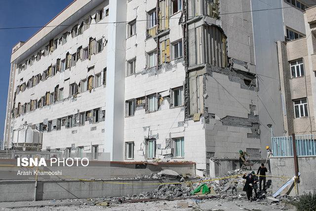 بیمارستانی که 6 ماه پس از افتتاح در زمین لرزه 21 آبان 96 سرپل ذهاب فروریخت