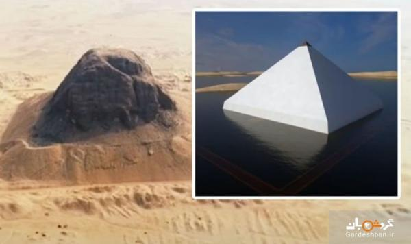 برملا شدن راز هرم شناور مصر در صحرای فیوم