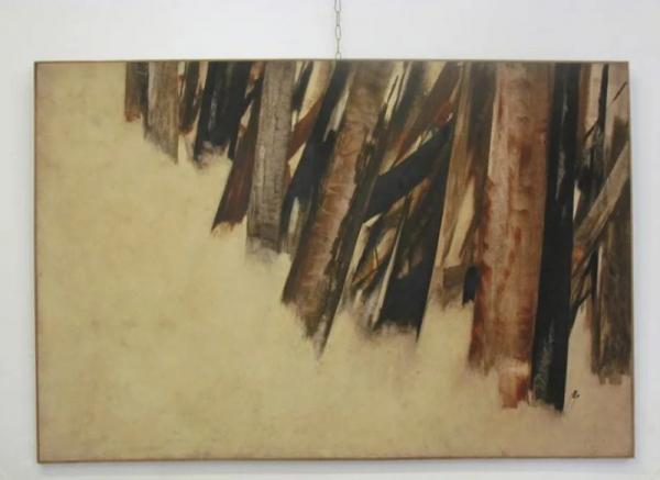 تابلوی نقاشی سهراب سپهری در کاخ موزه سعدآباد