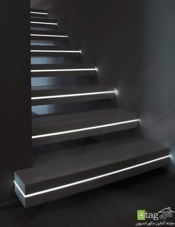 مدل های نو نورپردازی و روشنایی راه پله با چراغ ال ایی دی
