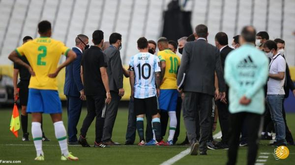 توقف بازی بزرگ برزیل ، آرژانتین به دلیل تخلف هم بازی های مسی!
